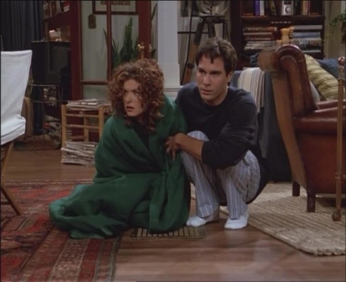 Will and Grace eavesdrop on their neighbors