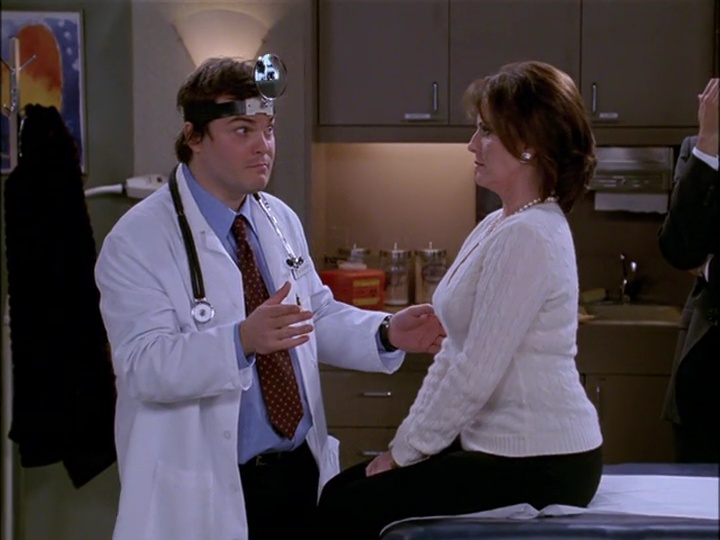 Dr. Hershberg attempts to examine Karen
